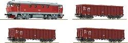 Товарен влак с дизелов локомотив T478 - Дигитален стартов комплект с релси -
