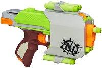 "Детски пистолет - Zombie Sidestrike - Комплект с 6 меки стрелички от серията ""Nerf"" -"