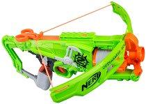 """Арбалет - Zombie Strike Outbreaker - Комплект с 5 броя меки стрелички от серията """"Nerf"""" - играчка"""