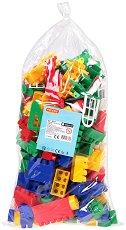 Детски конструктор с едри цветни елементи - играчка