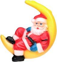 Светеща фигура - Дядо Коледа на луна - Размер - 17 / 55 / 35 cm