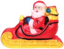 Светеща фигура - Дядо Коледа в шейна - Размер - 22 / 47 / 62 cm