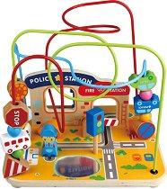 Дидактически лабиринт - Град - Дървена образователна играчка - играчка