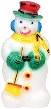 Светеща фигура - Снежен човек - Размер - 25 / 73 / 37 cm