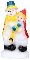 Светеща фигура - Двойка снежни човеци - Размер - 23 / 49 / 26 cm