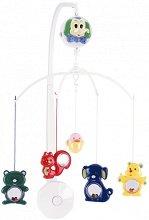 Музикална въртележка - Happy Zoo - Играчка за бебешко креватче -