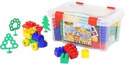 Детски конструктор с едри елементи - Комплект от 75 елемента -