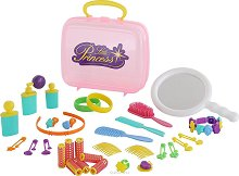 Малка принцеса - Комплект аксесоари в пластмасово куфарче -