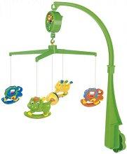 Музикална въртележка - Happy Animals - Играчка за бебешко креватче -