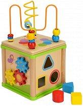 Образователен куб - Дървена играчка - играчка