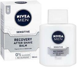 """Nivea Men Sensitive Recovery After Shave Balm - Балсам за след бръснене за чувствителна кожа от серията """"Sensitive Recovery"""" - дезодорант"""