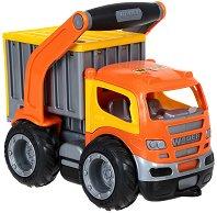 Камион - Контейнеровоз с дръжка - Детска играчка - играчка