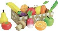 Плодове и зеленчуци - Дървени фигури -