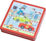 Бързи коли - Детски комплект с магнити - играчка