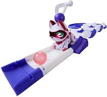 Коте-робот: Teksta Micro-Pets - Игрален комплект с писта - играчка