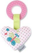 Сърце - Мека бебешка дрънкалка с дъвкалка -