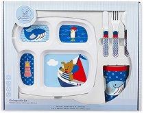 Детски комплект за хранене - Слончето Erwin - За бебета над 6 месеца -