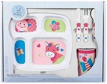 Детски комплект за хранене - Кончето Peggy - За бебета над 6 месеца -