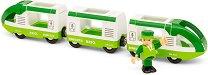 Пътническо влакче - Дървена играчка -