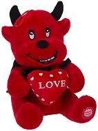 Дяволче със сърце - Плюшена играчка със звуков ефект -