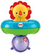 Лъвче и хипопотамче - Бебешка играчка с дрънкалка за баня -