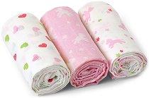 Бебешки тензухени пелени - Peggy - Комплект от 3 броя -