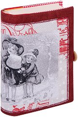 Ръчно изработена текстилна подвързия за книга - Дечица -