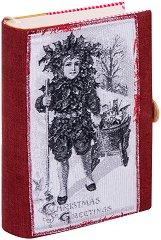 Ръчно изработена текстилна подвързия за книга - Джудже -