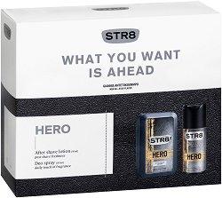 Подаръчен комплект за мъже - STR8 Hero - Лосион за след бръснене и дезодорант -