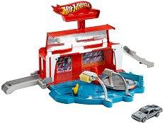 """Писта - Super Spin Carwash - Комплект с количка от серията """"Hot Wheels """" -"""