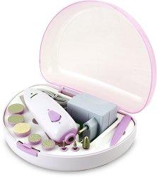 Beper Manicure and Pedicure Set 40.968 - Комплект с електрическа пила за маникюр и педикюр - крем