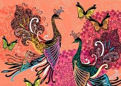 "Пауни и пеперуди - Колекция ""Magic Garden"" - пъзел"