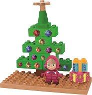"""Коледната елха на Маша - Детски конструктор от серията """"Маша и Мечока"""" - пъзел"""