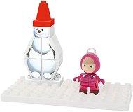 """Снежният човек на Маша - Детски конструктор от серията """"Маша и Мечока"""" - играчка"""