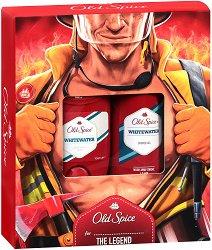 """Old Spice Fireman Whitewater - Подаръчен комплект за мъже от серията """"Whitewater"""" - лосион"""