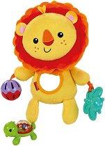 Лъвче - Плюшена играчка с дрънкалка и дъвкалка - играчка