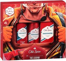 """Old Spice Fireman Whitewater - Подаръчен комплект за мъже от серията """"Whitewater"""" - лак"""