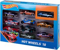 """Hot Wheels - Комплект от 10 метални колички от серията """"Hot Wheels"""" - играчка"""