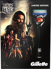 Подаръчен комплект за мъже - Gillette ProGlide Justice League - Самобръсначка с резервни ножчета -