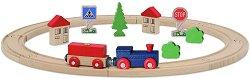 Влакче - Дървена играчка -