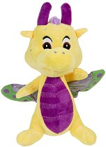 """Дракон - Lavender - Плюшена играчка от серията """"Safiras: Glitter Wings"""" -"""