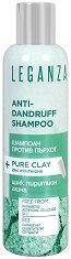 Leganza Anti-Dandruff Shampoo + Pure Clay - Шампоан против пърхот с цинк пиритион и глина - гел