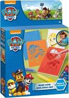 """Оцвети сам - Картини с Чейс, Маршъл и Ръбъл - Творчески комплект от серията """"Пес патрул"""" - играчка"""