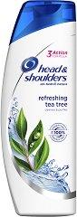 Head & Shoulders Refreshing Tea Tree - Освежаващ шампоан против пърхот с чаено дърво - мокри кърпички