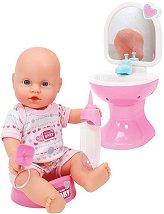Кукла-бебе в баня - Комплект за игра с аксесоари -