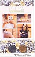 Бои с брокатен ефект за тяло - Диамантена кралица - Комплект от 2 цвята, четка и лепенки