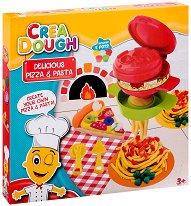 """Направи сам - Пица и паста - Творчески комплект с моделин от серията """"Crea Dough"""" - играчка"""
