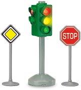"""Светофар с 2 пътни знака - Детска играчка със светлинен ефект от серията """"City team"""" - топка"""