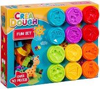 """Моделин - Забавна игра - Комплект от 30 части от серията """"Crea Dough"""""""