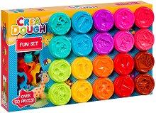 """Моделин - Забавна игра - Комплект от 60 части от серията """"Crea Dough"""""""